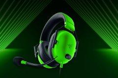 雷蛇旋风黑鲨V2 X绿色版发布:支持7.1环绕声 仅重240g